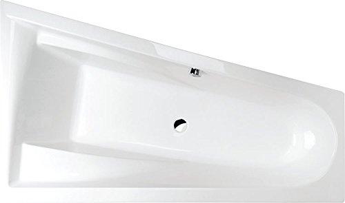 raumspar badewanne chloe rechts 170 x 100 cm komplettset mit acrylsch rze wei zum verkleiden. Black Bedroom Furniture Sets. Home Design Ideas