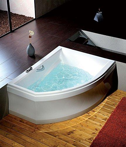 raumspar badewanne tabea links 170 x 130 cm komplettset mit acrylsch rze wei zum verkleiden. Black Bedroom Furniture Sets. Home Design Ideas