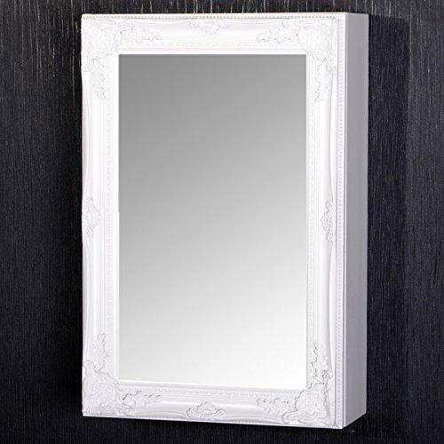 spiegelschrank beatrice 60x40cm badezimmer schrank weiss badschrank landhaus. Black Bedroom Furniture Sets. Home Design Ideas