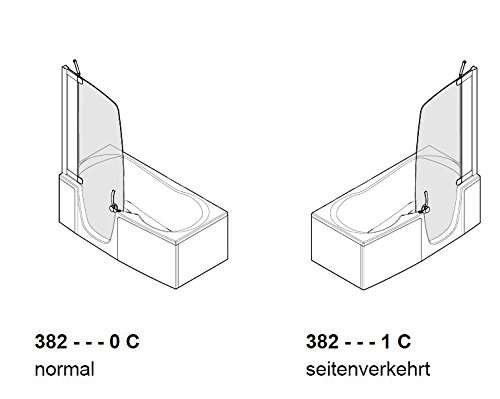 teuco duschbadewanne 382 t re links mit wannenrandarmatur und wanneneinlauf. Black Bedroom Furniture Sets. Home Design Ideas