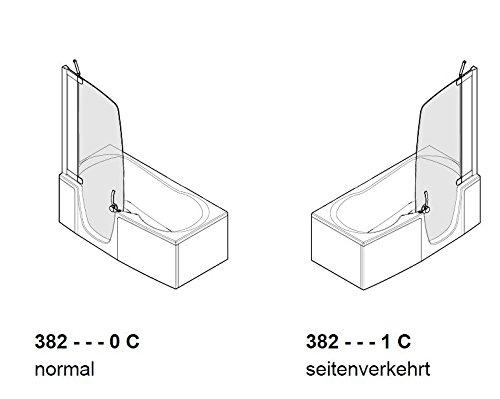 teuco duschbadewanne 382 t re links mit wannenrandarmatur. Black Bedroom Furniture Sets. Home Design Ideas