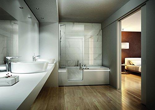 Duschbadewanne | Badewanne mit Dusche | Badewanne 170x75 cm | 2in1 Badewanne