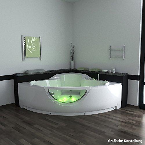 Badewanne für 2 Personen  | Luxus Whirlpool für 2 | Eckwanne für 2 | 2 Personen Eckbadewanne