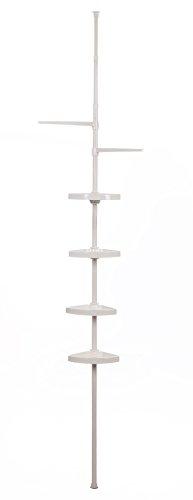Badregal für Dusche weiß | Duschecke Ablage weiß