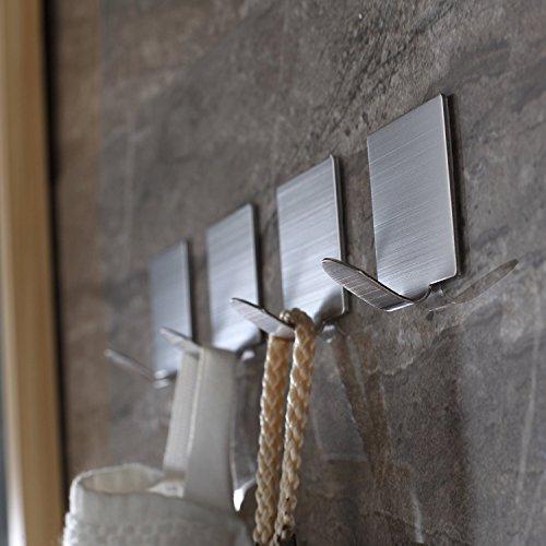 be fancy 4 premium handtuchhaken laura selbstklebend aus edelstahl ohne bohren 4 9 cm im. Black Bedroom Furniture Sets. Home Design Ideas