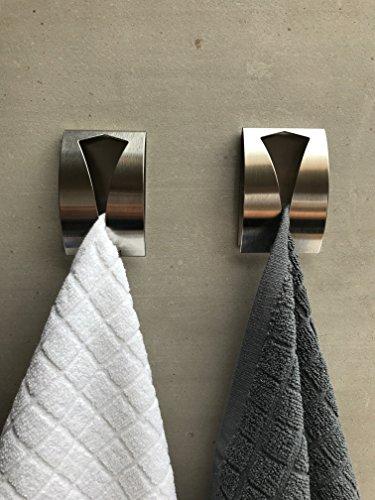be fancy premium handtuchhalter im 2er set aus edelstahl ohne bohren selbstklebend 7 5 cm x. Black Bedroom Furniture Sets. Home Design Ideas
