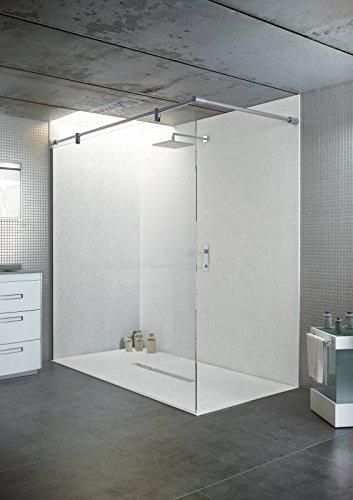 100x100 cm begehbare Dusche | Bodenebene Dusche