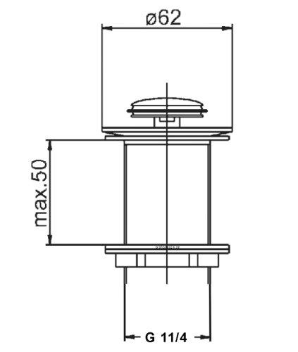 profizeug24 ablaufgarnitur f r den waschtisch pop up ventil waschbecken ablauf zum dr cken. Black Bedroom Furniture Sets. Home Design Ideas