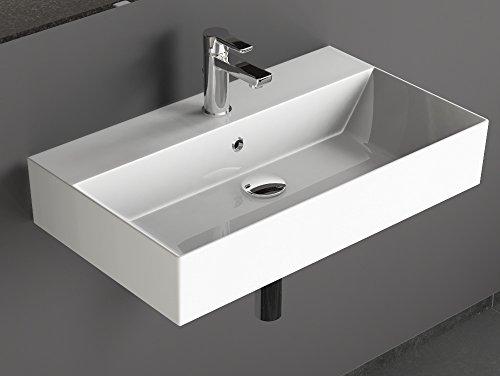 Design Waschtische | Aqua Bagno Ks 70 Design Waschbecken Aufsatzbecken 70x42cm Keramik