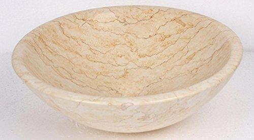 Aufsatzwaschtisch Aus Naturstein Beige Aus Marmor Rund Waschbecken
