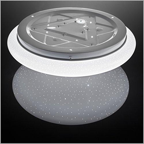 b k licht deckenleuchte led 12w lampe mit sternenlicht glitzereffekt deckenlampe weiss. Black Bedroom Furniture Sets. Home Design Ideas