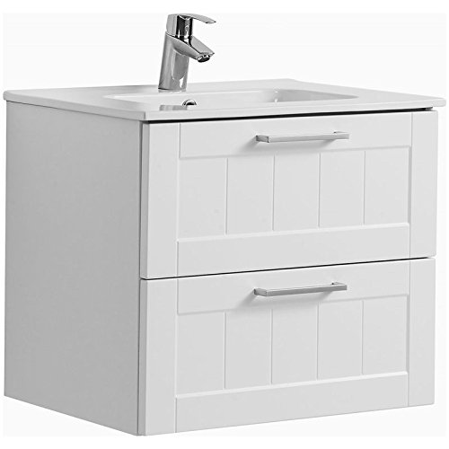 badezimmerm bel waschplatz set matt wei keramik waschtisch mit unterschrank spiegelschrank mit. Black Bedroom Furniture Sets. Home Design Ideas