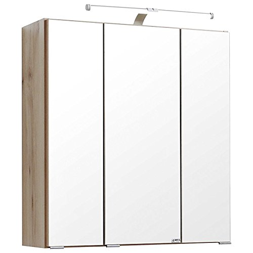 Badezimmer Spiegelschrank 80cm breit  | LED Spiegelschrank 80 cm