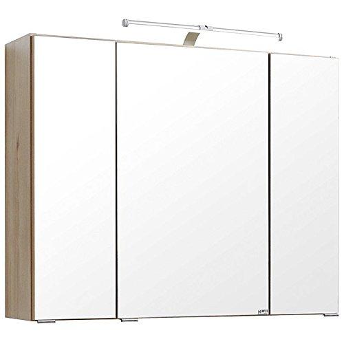 Badezimmer Spiegelschrank 100cm breit  | LED Beleuchtung Spiegelschrank