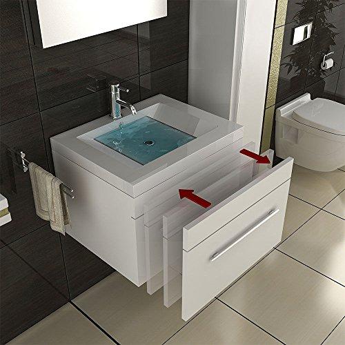 Wei Farbe: Badmbel-Komplett-Set-mit-Waschbecken-aus-Mineralguss