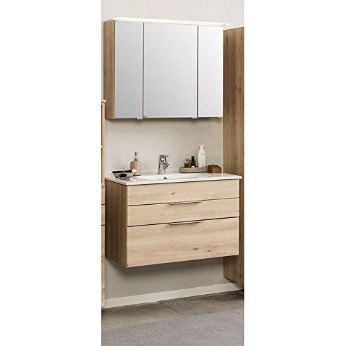 badm bel set 2 teilig holzoptik buche iconic badezimmer waschplatz set 60cm waschtisch. Black Bedroom Furniture Sets. Home Design Ideas