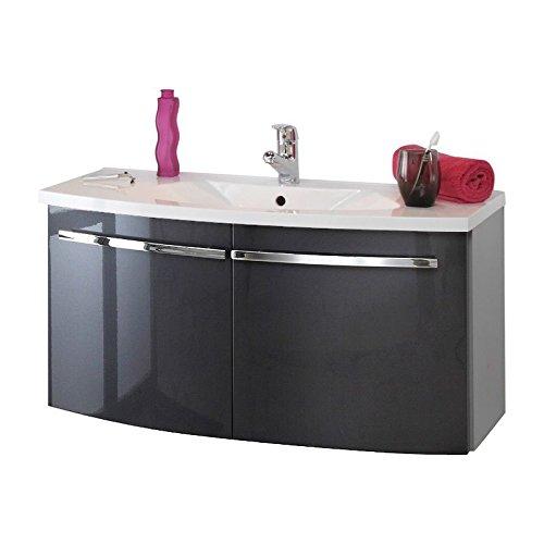 badm bel set 3 teilig anthrazit hochglanz alufarbig badezimmer komplettset spiegelschrank mit. Black Bedroom Furniture Sets. Home Design Ideas