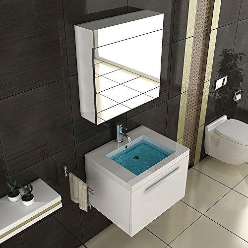 badm bel set mit waschbecken aus mineralguss und. Black Bedroom Furniture Sets. Home Design Ideas