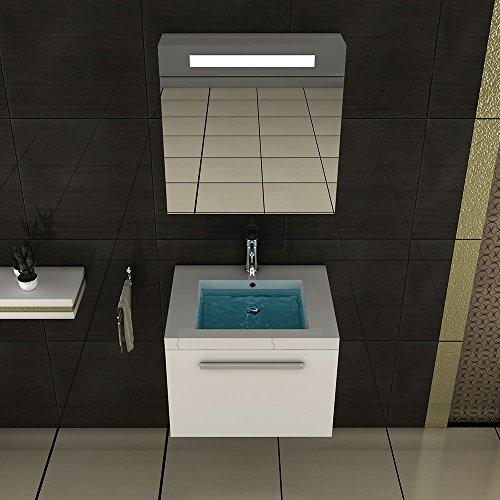 badm bel set mit waschbecken aus mineralguss und unterschrank mit softclose funktion wei 60. Black Bedroom Furniture Sets. Home Design Ideas