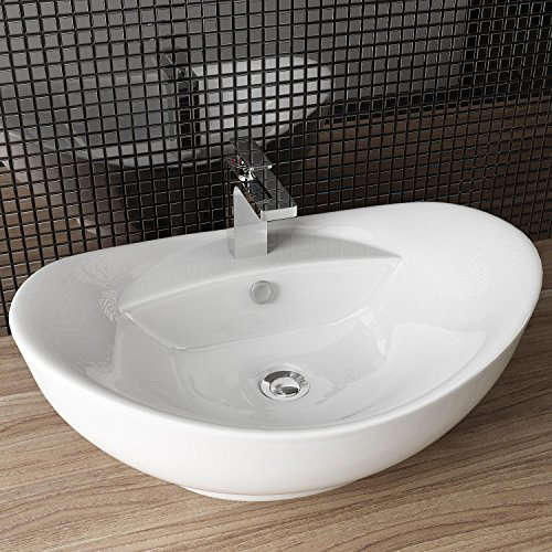 Waschbecken Aufsatz Für Badewanne : design keramik waschtisch aufsatz waschbecken waschplatz f r badezimmer g ste wc a82 ~ Markanthonyermac.com Haus und Dekorationen