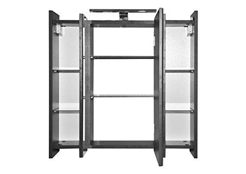 70cm Spiegelschrank   Badezimmer Spiegelschrank    Anthrazit 70 cm Spiegelschrank mit Beleuchtung   Spiegelschrank mit Beleuchtung