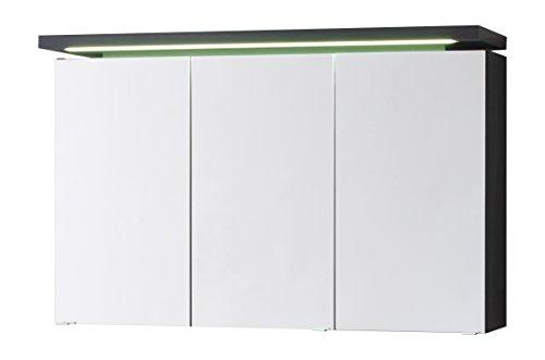 63x100x465 cm Spiegelschrank mit LED Beleuchtung | Badezimmer Spiegelschrank LED