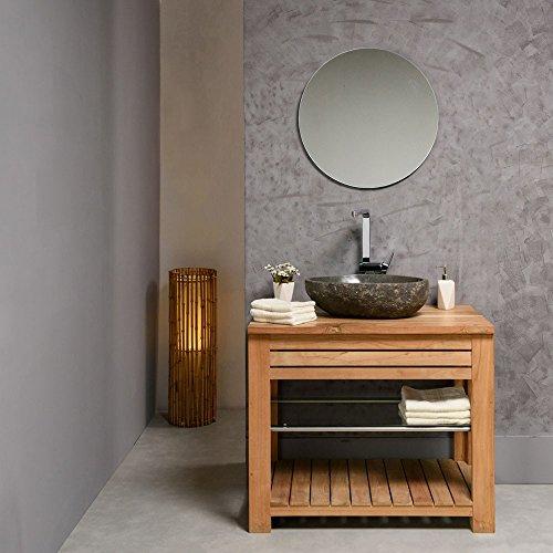 naturstein waschbecken 40 cm oval einzeln gepr ft und. Black Bedroom Furniture Sets. Home Design Ideas