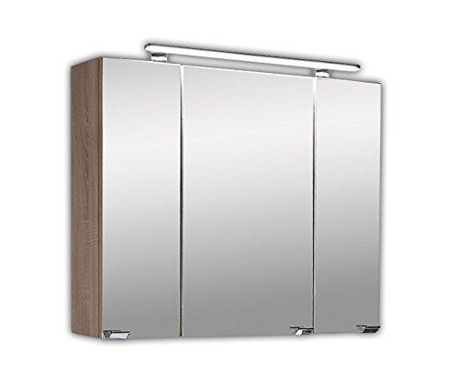Badezimmer Spiegelschrank  3 türig    Spiegelschrank 80x20x68 cm