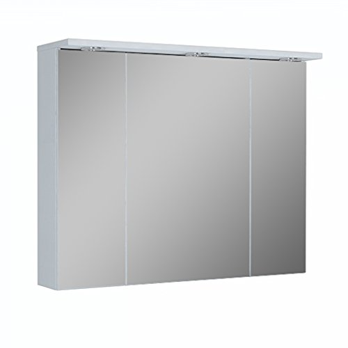 90cm LED  Spiegelschrank Badezimmer | Lichtleiste Spiegelschrank