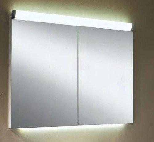 Spiegelschrank LED Beleuchtung |  80cm Spiegelschrank | Badezimmer Spiegelschrank