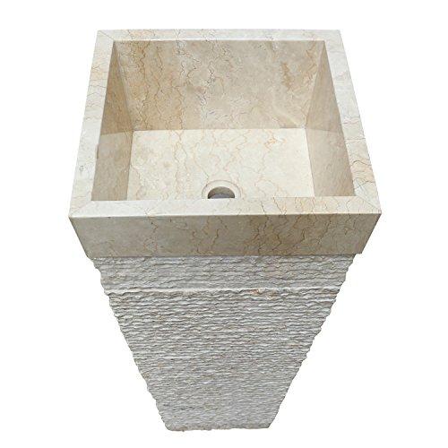 Waschbecken eckig | waschbecken 90 cm  | Marmor waschbecken 90 cm |  Säulenwaschbecken 90 cm