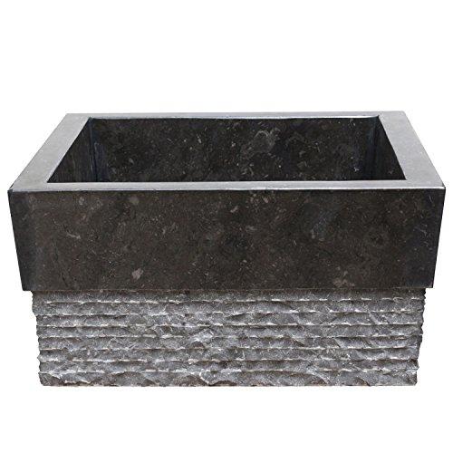 standwaschbecken waschs ule waschbecken marmor s ule marmorwaschbecken 90 cm eckig schwarz. Black Bedroom Furniture Sets. Home Design Ideas