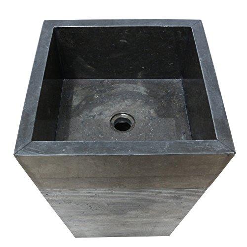 standwaschbecken waschsule waschbecken marmor sule marmorwaschbecken 90 cm eckig schwarz 0 2. Black Bedroom Furniture Sets. Home Design Ideas