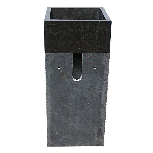 standwaschbecken waschsule waschbecken marmor sule marmorwaschbecken 90 cm eckig schwarz 0 4. Black Bedroom Furniture Sets. Home Design Ideas