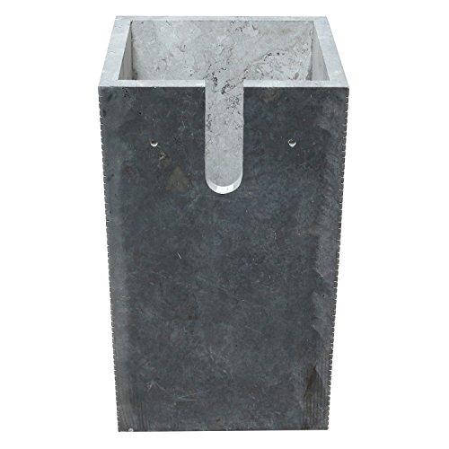 standwaschbecken waschsule waschbecken marmor sule marmorwaschbecken 90 cm eckig schwarz 0 5. Black Bedroom Furniture Sets. Home Design Ideas