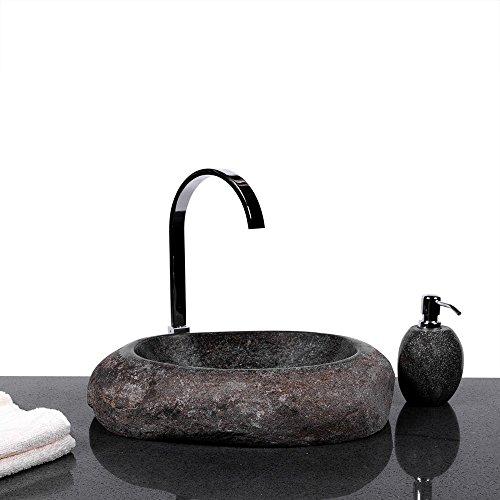 Granit Waschbecken wohnfreuden große auswahl an naturstein waschbecken rund oval 40 cm