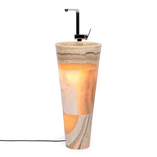 Waschbecken rund Marmor | Waschbecken rund | Säulenwaschbecken rund