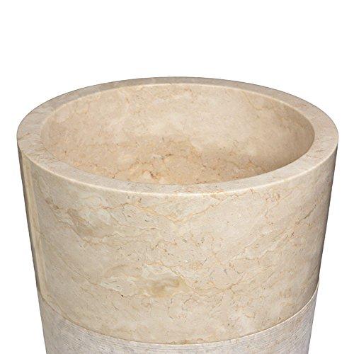 wohnfreuden marmor stand waschbecken pedestal 40 x 90 cm gro rund creme geh mmert naturstein. Black Bedroom Furniture Sets. Home Design Ideas