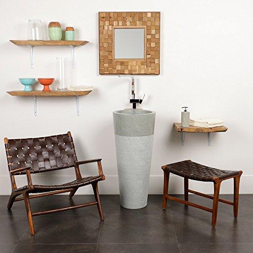 wohnfreuden marmor stand waschbecken pedestal 40 x 90 cm gro rund grau weiss creme geh mmert. Black Bedroom Furniture Sets. Home Design Ideas