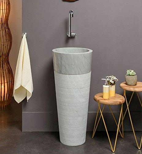 Wohnfreuden Marmor Stand Waschbecken Pedestal 40 X 90 Cm Gross