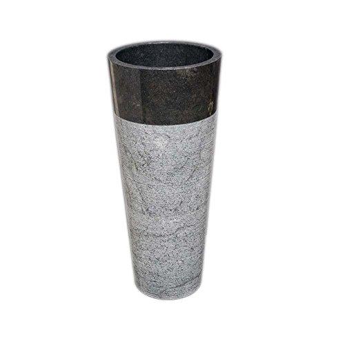 wohnfreuden marmor stand waschbecken pedestal 40 x 90 cm gro rund schwarz geh mmert naturstein. Black Bedroom Furniture Sets. Home Design Ideas