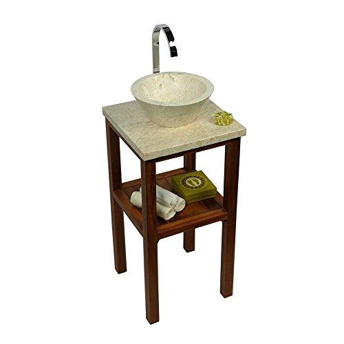 wohnfreuden marmor waschbecken 30 cm klein rund creme naturstein waschplatz handwaschbecken. Black Bedroom Furniture Sets. Home Design Ideas