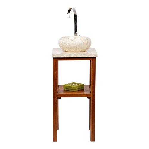 wohnfreuden marmor waschbecken 30 cm rund poliert creme naturstein waschplatz handwaschbecken. Black Bedroom Furniture Sets. Home Design Ideas