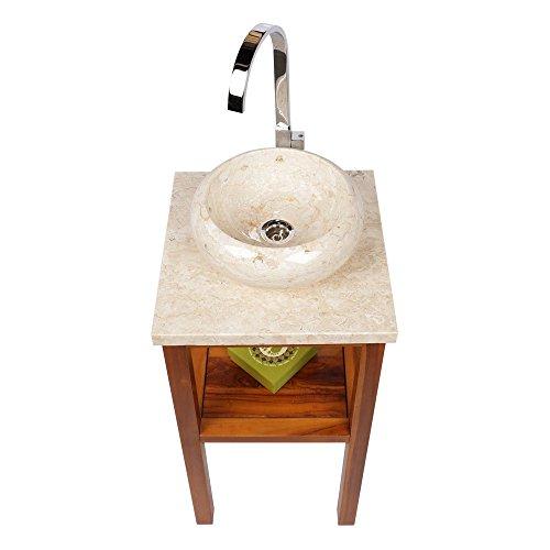 wohnfreuden marmor waschbecken 30 cm rund poliert creme. Black Bedroom Furniture Sets. Home Design Ideas