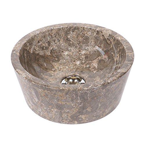 Marmor Aufsatz für Waschtisch |  Marmor waschbecken | 30 cm Marmor Waschbecken