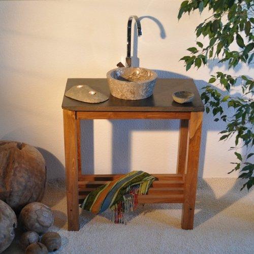 wohnfreuden marmor waschbecken 30 cm grau rund poliert. Black Bedroom Furniture Sets. Home Design Ideas