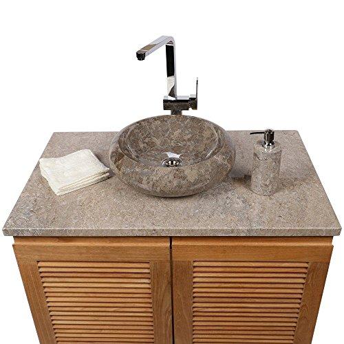 Waschbecken rund | Marmor Waschbecken rund  mit unterschrank |  40 cm Waschbecken rund