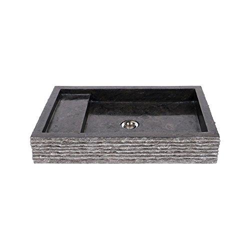 wohnfreuden marmor waschbecken 60 cm recht eckig anthrazit steinwaschbecken oder naturstein. Black Bedroom Furniture Sets. Home Design Ideas