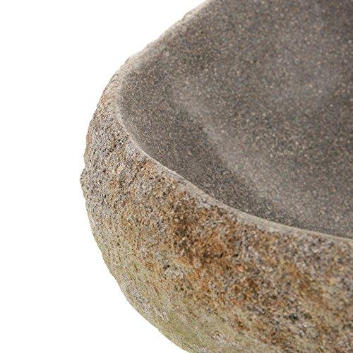 wohnfreuden naturstein waschbecken megalith rund oval 30 40 cm poliert stein aufsatzwaschbecken. Black Bedroom Furniture Sets. Home Design Ideas