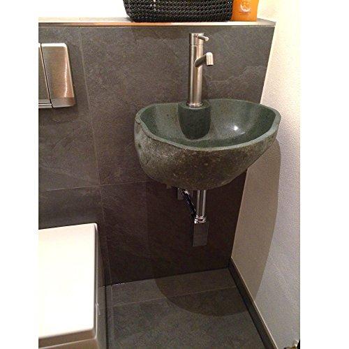 wohnfreuden naturstein waschbecken set inkl wandhalterung. Black Bedroom Furniture Sets. Home Design Ideas